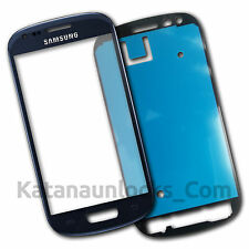 ORIGINAL Cristal de pantalla Samsung Galaxy S3 Mini SIII i8190 Azul - Front Glas
