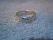 NEW PURE SILVER .999 BULLION SZ61/2 WOMAN RING MADE BY ANARCHY P.M. JEWELRY #D62