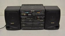 Sharp GX-CH150 AM/FM Stereo Dual Cassette Dual CD Boombox System w/Equalizer
