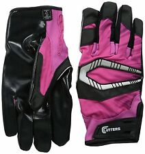 Cutters Gloves REV Pro Receiver Football Gloves (Pair), Pink, Adult: Medium