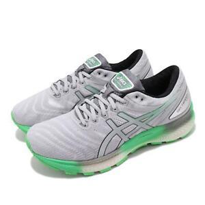 Asics Gel-Nimbus 22 Lite Grey Green Mens Road Running Shoes 1011A782-101