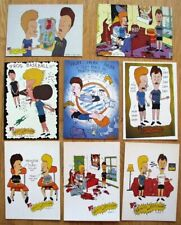 BEAVIS AND BUTT-HEAD Postkarten 8 verschiedene Originale aus den 1990er Jahren