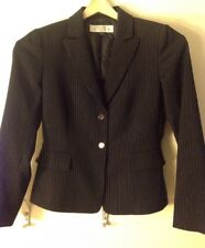 Women's 2P Tahari Black Pinstriped Blazer