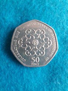 VERY RARE *COIN ERROR* 50p coin Celebrating 100 years of Girl Guiding UK