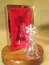 "Rare Lenox Annual Crystal Bell Snowflake 2005 New In Original Box 4""+ Tall"