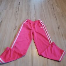 Adidas extra 6x 6 pants youth pink girl track sweat sweatpants stripes logo