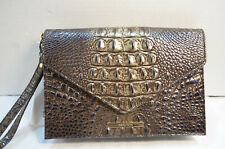 Authentic Brahmin Sara Clutch Umbra Melbourne Embossed Leather