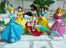 Disney Princess Cinderella Belle Playset 6 Figure Cake Topper Toy Doll Set