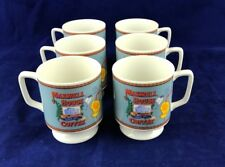 Vintage maxwell house delicate footed porcelain coffee cups set of 6 great color