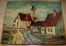 Münster Ölgemälde. Pair 1914. Signed H.Schiffer