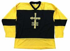 OZZY OSBOURNE OZZMAN COMETH YELLOW & BLACK HOCKEY JERSEY SHIRT XL NEW OFFICIAL