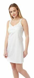 Womens Chemise Strappy Nightie Poly Cotton Nightwear Slip Ladies Strapped SIZ 12