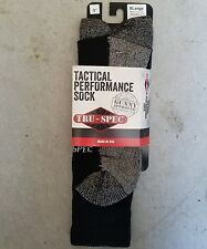 "Tru Spec TSP-3911006 Socks Black Tactical Performance 9""  TRU-SPEC 1 PAIR XL NEW"