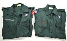 2 Boy Scouts of America Mens Button-Up Short Sleeve Official Uniform Shirt Xl/M