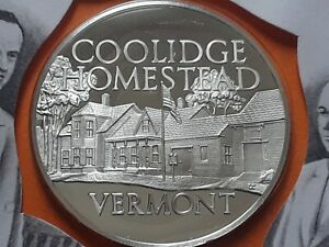 1972 Franklin Mint, proof silver medal VERMONT - COOLIDGE HOMESTEAD