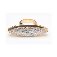 CC SKYE Pave Spear Ring Gold (size 6)