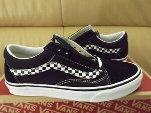 Vans Old Skool (SideStripe V) Men's Shoes Size 8.5 Black/White Removable Stripe