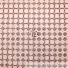 BonEful Fabric FQ Cotton Quilt Pink White Gray Calico Flower Dot Stripe Diamond