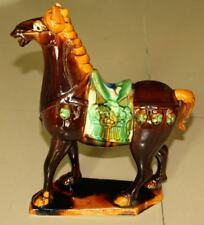 CHINESE TANG WAR HORSE FIGURINE Height 10.5 inches