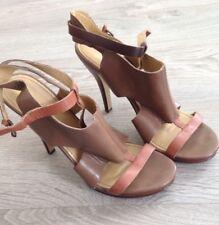 Nine West platform tan heeled sandals