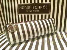 NEW Henri Bendel Original Cosmetic Bag Case Small T Gusset Centennial Stripe