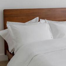 SOAK AND SLEEP Egyptian 600TC Cotton Oxford Pillow Cases, Standard, White, Pair