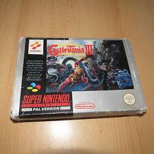 Castlevania IV 4  Version PAL  SNES Super Nintendo boxed