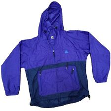 VTG NIKE ACG 90's Grid Pattern Purple/Teal/Navy Pullover Anorak Jacket Large