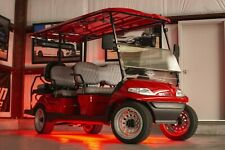 New Red Golf Cart 6 Passenger Limo Custom Seats Led Lighting Wheels Soundbar