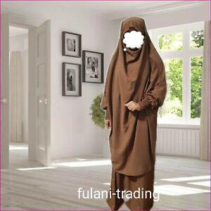 2 piece abayas Set two piece Khimar Skirt Abaya Prayer dress Overhead