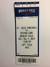 Chicago Cubs vs St. Louis Cardinals May 4, 2019 ticket stub