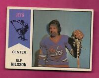 RARE 1974-75 OPC WHA # 4 JETS ULF NILSSON  ROOKIE GOOD CARD (INV#5274)