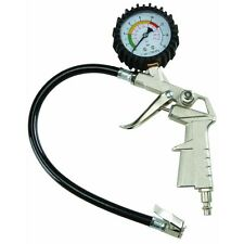 PISTOL GUN GRIP AIR TIRE INFLATOR WITH DIAL PRESSURE GAGE GAUGE INFLATER CHUCK