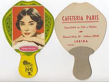Pay Pay de cartón de tipo PUBLICITARIO Audrey Hepburn. Serie 7. Año 1959.