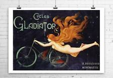 Cycles Gladiator 1905 Vintage Bicycle Poster Giclee Canvas Print 32x24 in.