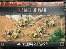 Flames Of War British 25 PDR Field Troop 4th Edition FoW Plastic BBX33 Mid