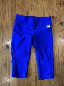 New Balance Blue Capri Yoga Pants Leggings Gym Stretch Size M (12)