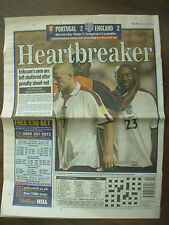 FOOTBALL EURO 2004 - DAILY MAIL - HEARTBREAKER AS ENGLAND LOSE ON PENALTIES