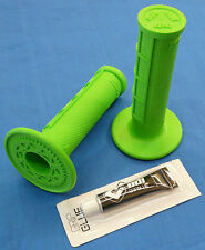 YAMAHA WR 500 WR500 ODI HALF WAFFLE MX GRIPS GLUE GREEN NEW TWIST THROTTLE