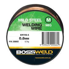 Bossweld 0.6mm 0.7kg Mild Steel S6 MIG Wire