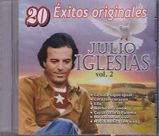 Julio Iglesias Vol 2 CD 20 Exitos Originales CD New Sealed Nuevo