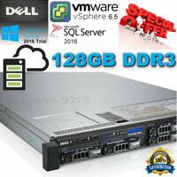 Dell PowerEdge R620 2x Xeon E5-2650v2 2.60GHz 16-CORE 128GB DDR3 H710 240GB SSD