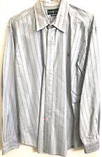 Ralph Lauren Polo Men's Dress Shirt Button Down Size XL Blue Long Sleeve Classic