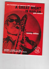 A Great Night In Harlem program jazz Sonny Rollins Keith Richard rolling stones