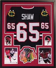 Andrew Shaw Autographed Custom Framed Chicago Blackhawks Jersey 2 JSA COA