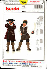 Burda Sewing Pattern 2452 Burda Kids Pirate Costume