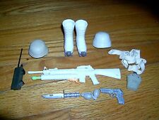 VINTAGE- LOT OF 15 - G.I. JOE ACCESSORIES-WHITE BOOTS W/SNOW/ICE SPIKES- ETC.L#1