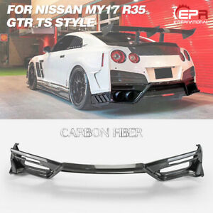 For Nissan R35 GTR MY17 TS Style Carbon Rear Lip (Only Use Top-S Style Bumper)