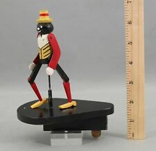 Antique 1915 Record Player Phonograph Machine Dancing Man Wood Toy NR