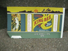 Vintage King Bee Cigarette Tobacco Packaging Label